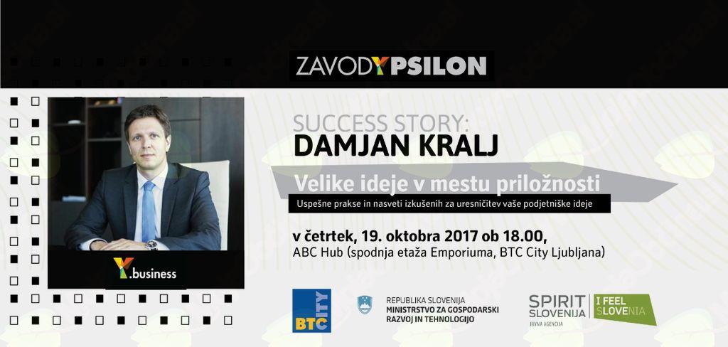 Y.business Success Story: mag. Damjan Kralj, direktor za trženje in marketing, BTC d.d.