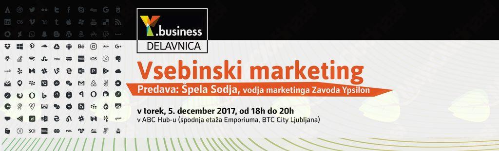 Y.business delavnica Vsebinski marketing