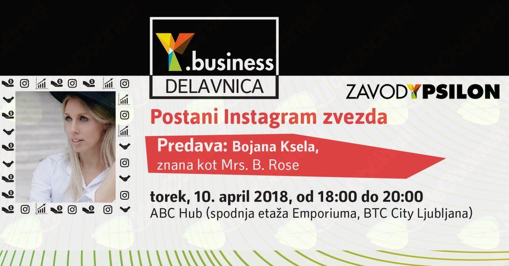 Y.business delavnica: Postani Instagram zvezda