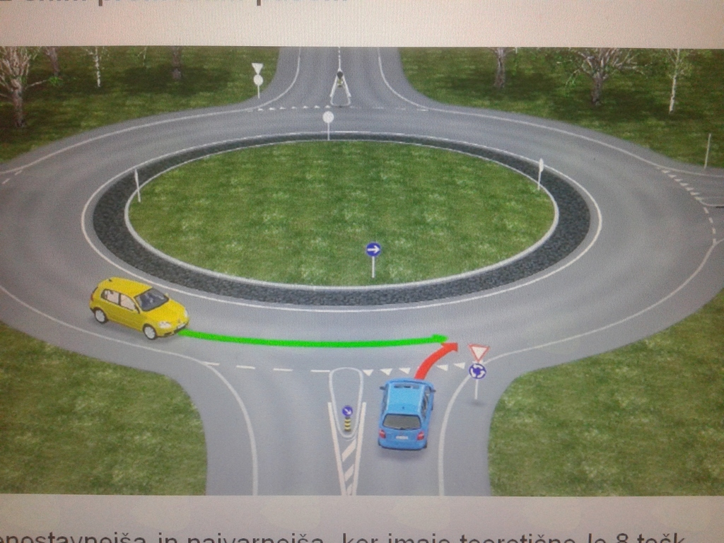 Krožišča in vožnja po avtocesti