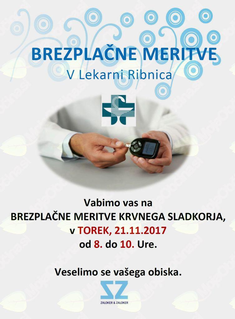 Brezplačne meritve krvnega sladkorja v Lekarni Ribnica