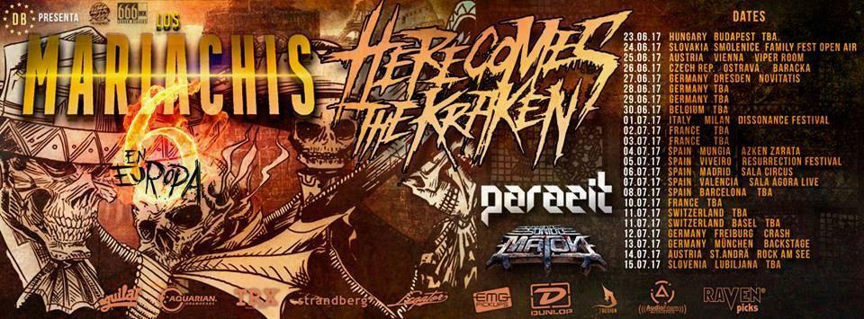 Koncert: Here comes the Kraken mex Parazit mex Sonido Maton mex