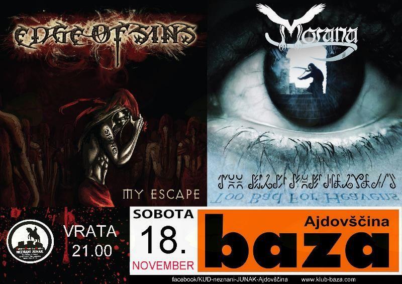 Koncert Edge of Sins in Morana SLO metal