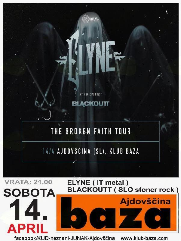 Koncert: Elyne + Blackoutt (metal)