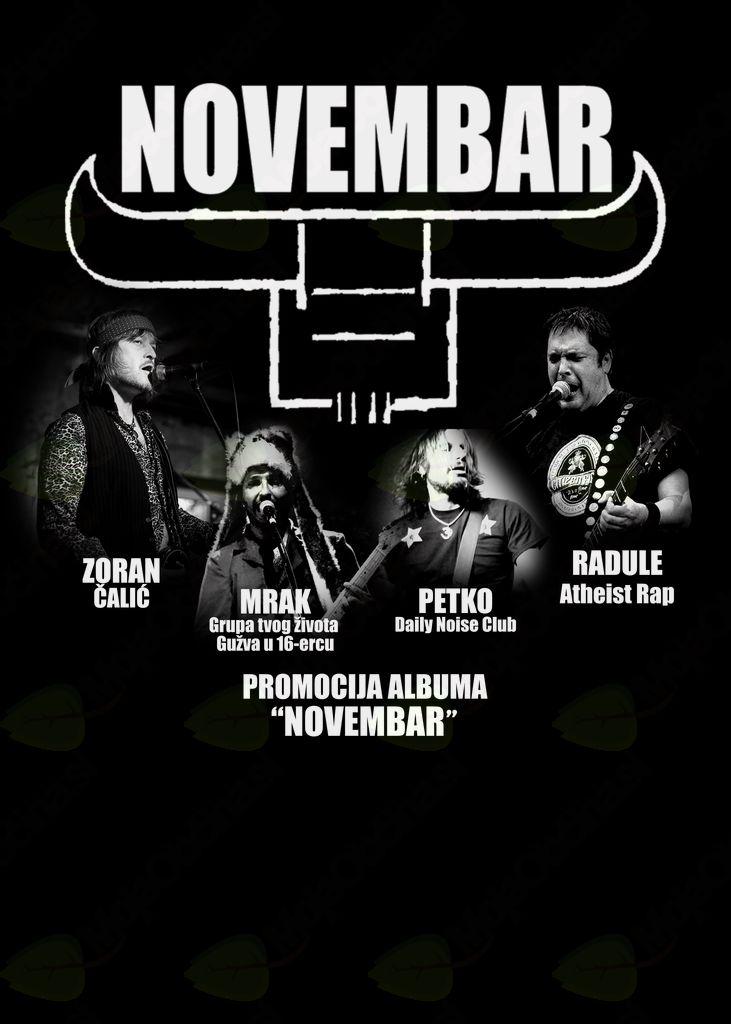 Koncert: Novembar (punk rock iz Niša)