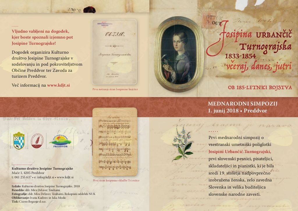 1. Mednarodni simpozij o Josipini Turnograjski