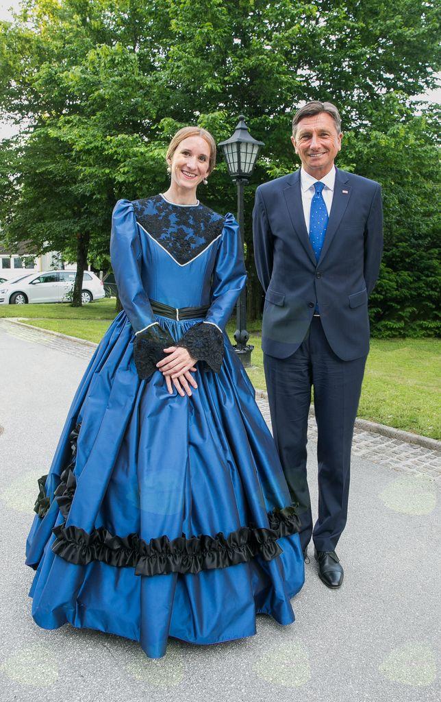 ddr. Mira Delavec Touhami in predsednik RS Borut Pahor (foto Tadej Majhenič)