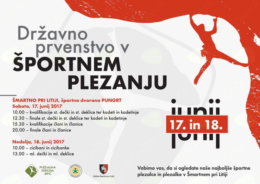 Državno prvenstvo v športnem plezanju - Šmartno 2017