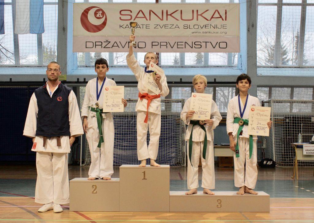 Sankukai karate klub Komenda uspešen na Državnem prvenstvu