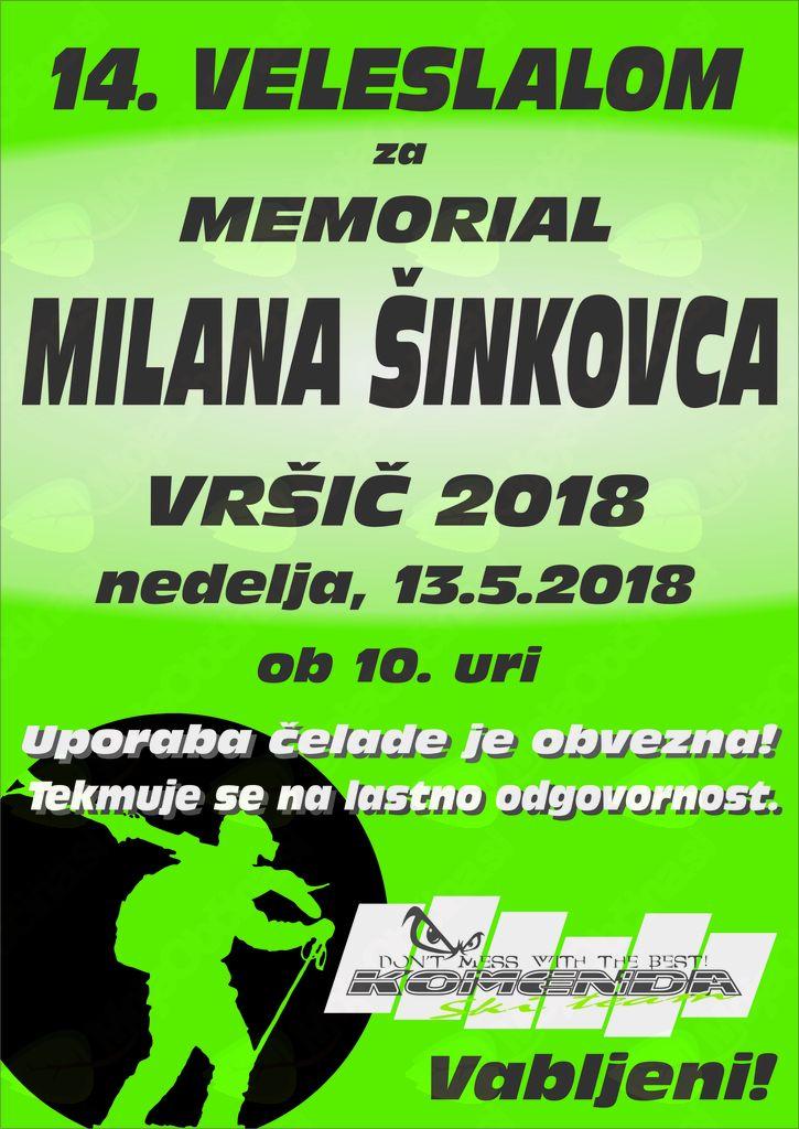 14. MEMORIAL MILANA ŠINKOVCA