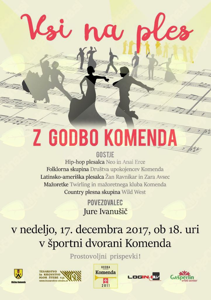Koncert Godbe Komenda - Vsi na ples