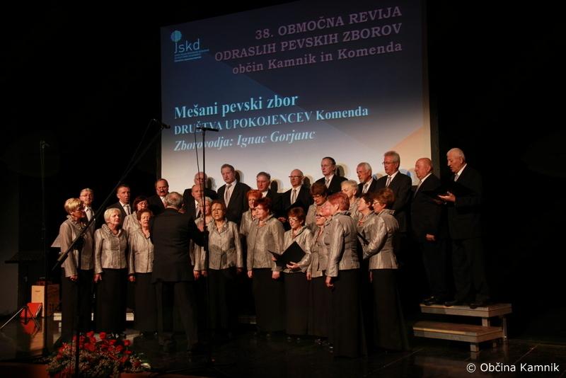 38. Območna revija pevskih zborov iz občine Kamnik in Komenda