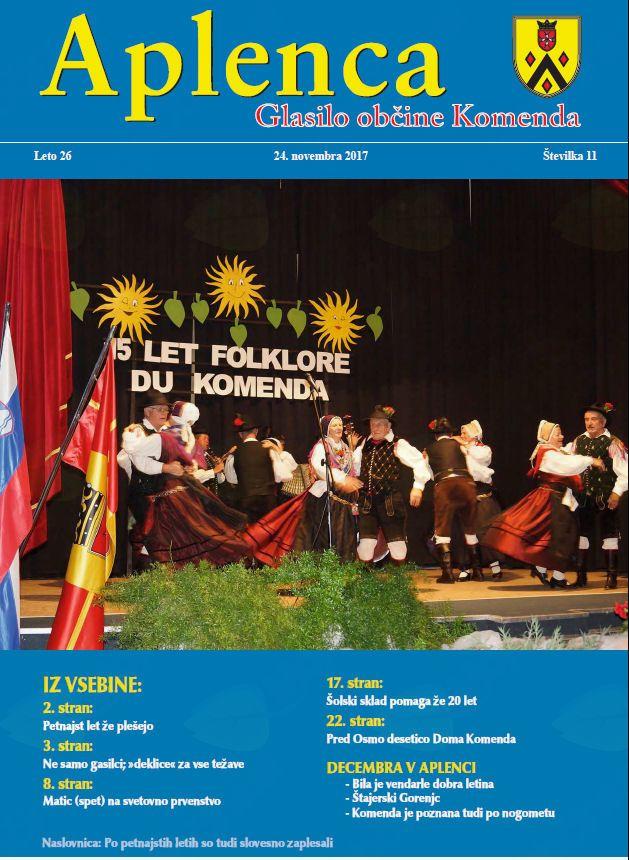 Aplenca – Glasilo občine Komenda 11/2017