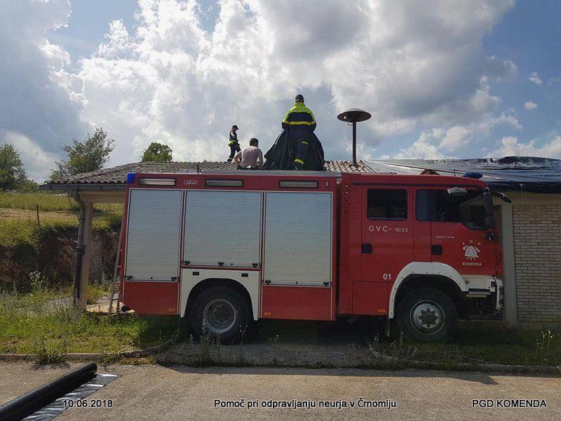 Tudi komendski gasilci v Črnomlju