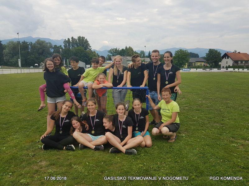 Tekmovanje gasilske mladine v nogometu