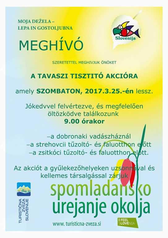 Spomladanska čistilna akcija/Tavaszi tisztitó akció