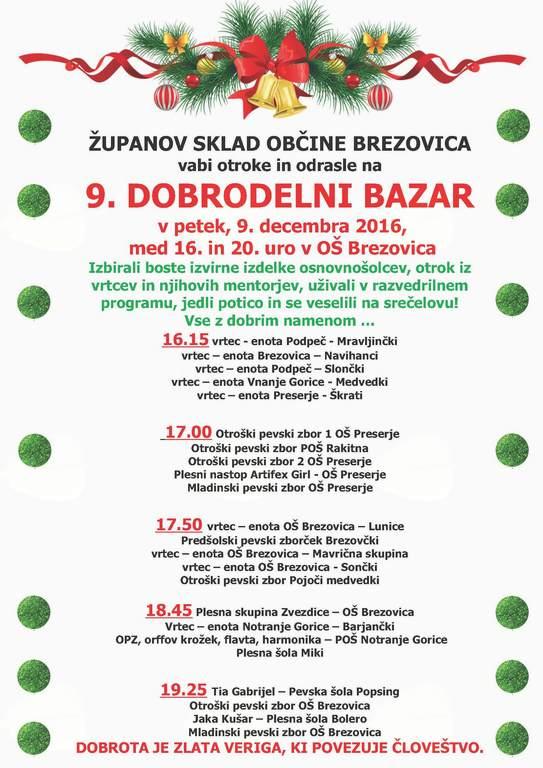 9. Dobrodelni bazar