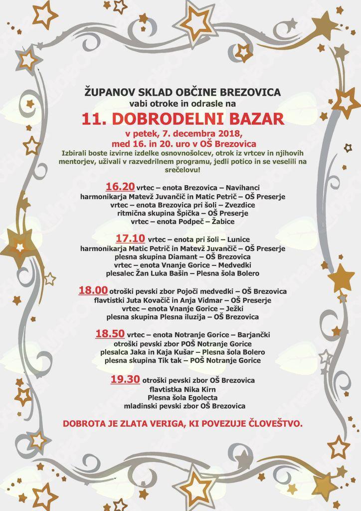 11. dobrodelni bazar