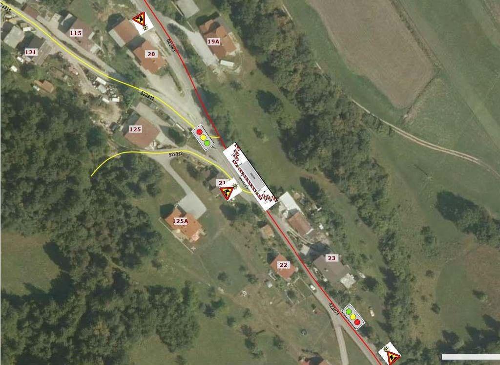 Delna zapora ceste - Kamnik pod Krimom