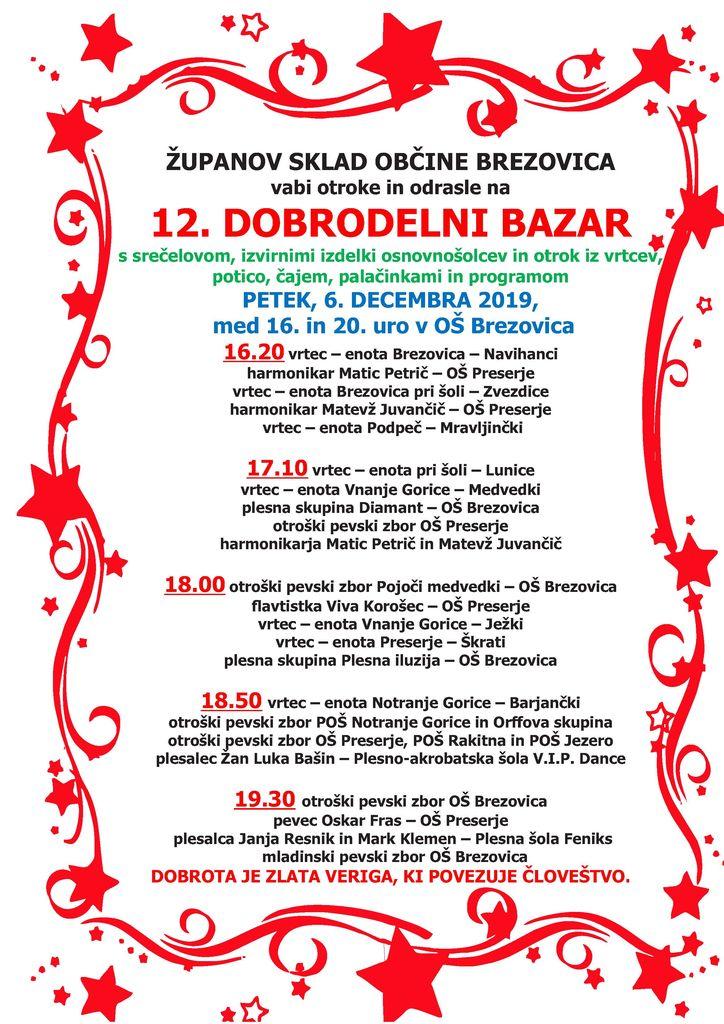 Dobrodelni bazar Županovega sklada Občine Brezovica
