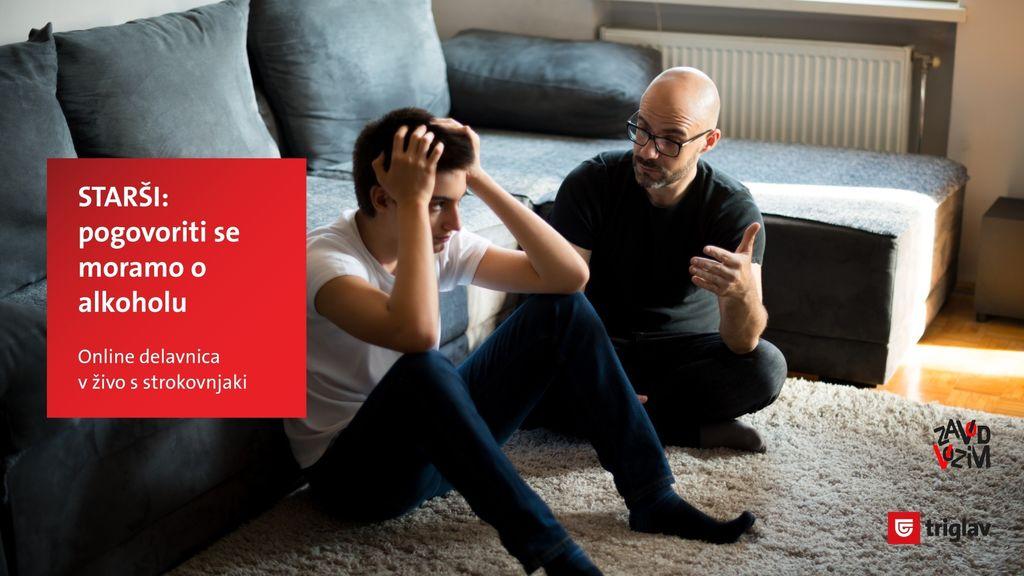 Brezplačno online predavanje - Kako naj se z najstnikom pogovorim o alkoholu?