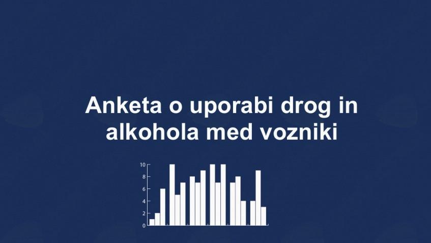 Anketa o uporabi drog in alkohola med vozniki