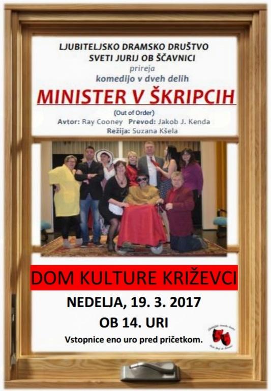 Minister v škripcih, komedija v dveh dejanjih