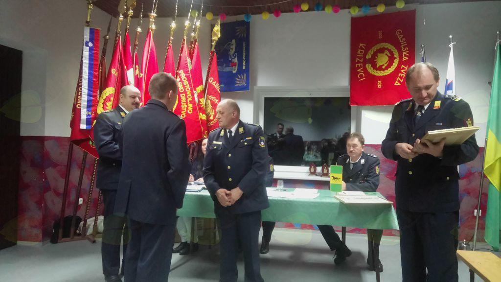 Gasilska zveza Križevci podelila naziv častni predsednik Dragotinu Rakušu in častni poveljnik Milanu Antolinu
