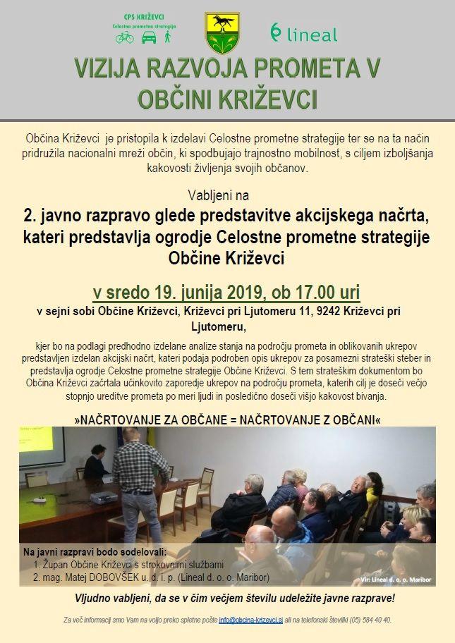Vabljeni na 2. javno razpravo o Celostni prometni strategiji Občine Križevci