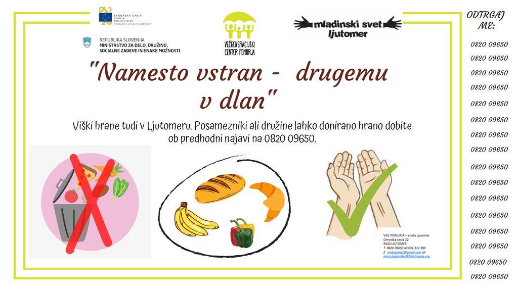 VGC Pomurja - enota Ljutomer - viški hrane