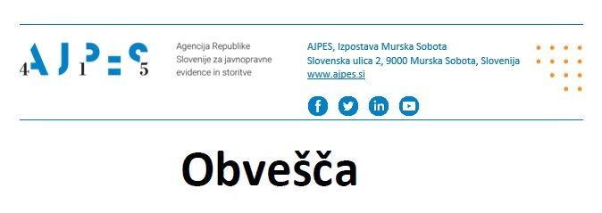 Obvestila AJPES 2021