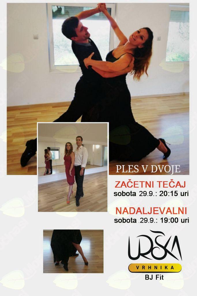 Plesna šola Urška Vrhnika - ZAČETNI TEČAJ DRUŽABNEGA PLESA
