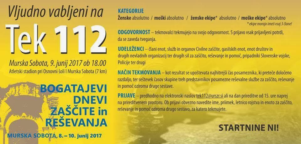 """""""TEK 112"""" in """"Bogatajevi dnevi zaščite in reševanja 2017"""""""