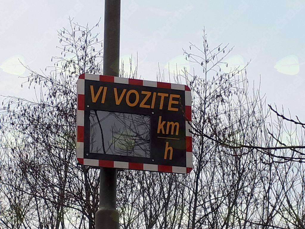 Prikazovalnik hitrosti pri OŠ Gornji Petrovci