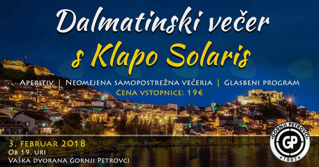Dalmatinski večer s klapo Solaris