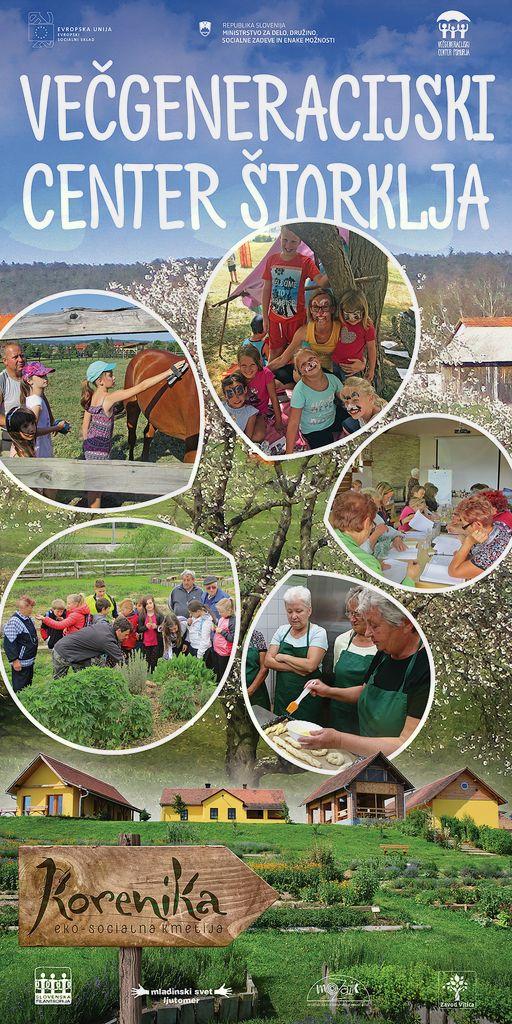 Brezplačne aktivnosti in delavnice v Večgeneracijskemi centru Štorklja na Eko-socialno kmetijo KORENIKA v Šalovce 86.
