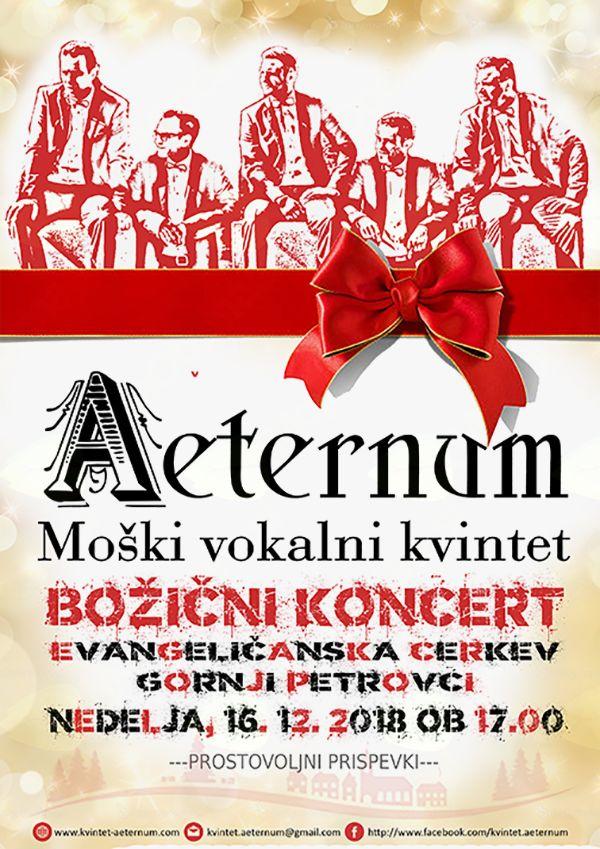 Božični koncert moškega vokalnega kvinteta Aeternum