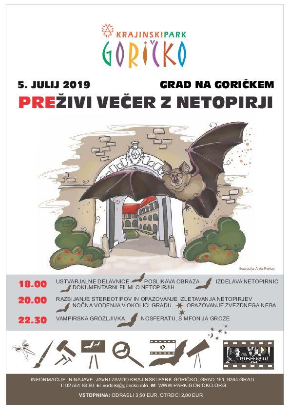 Večer z netopirji na gradu Grad na Goričkem