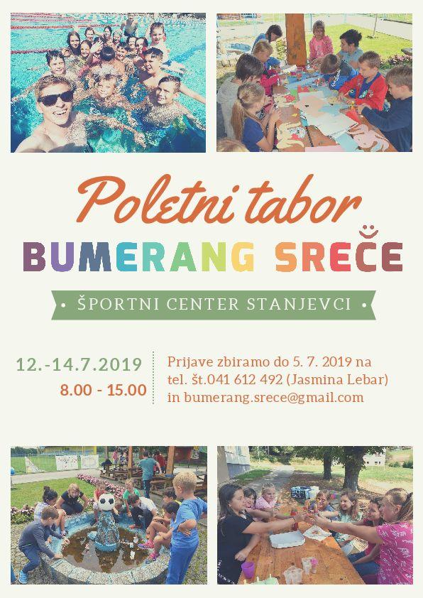 8. poletni tabor Bumerang Sreče