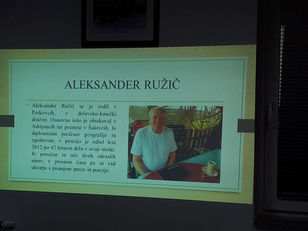 Vabilo na predstavitev nove knjige Aleksandra Ružiča