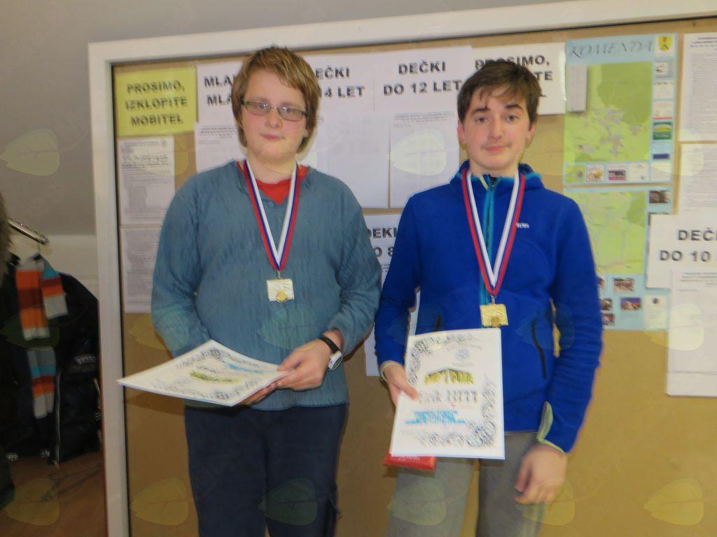 zmagovalci do 14 let Danijel Grad Erik HITI