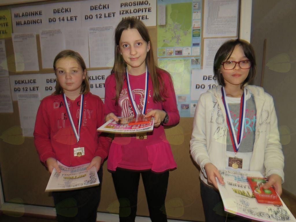 zmagovalke do 12 let Jerneja Grošelj Elma Halilovič Ajda Lapanje