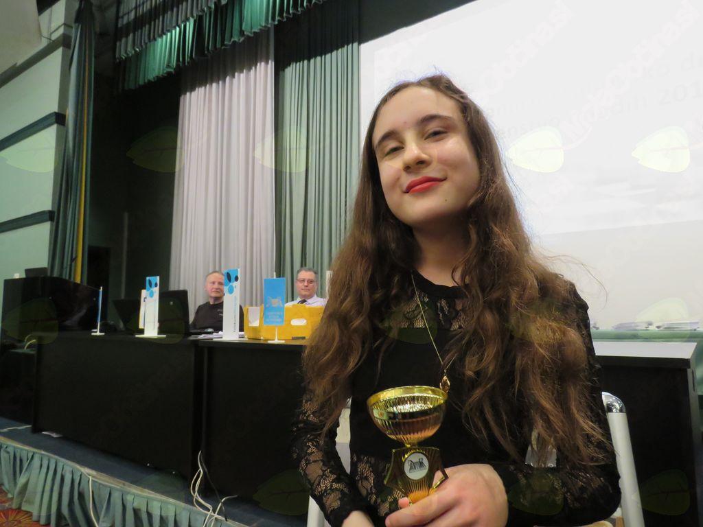 Klara Vidmar 3. mesto med dekleti do 16 let