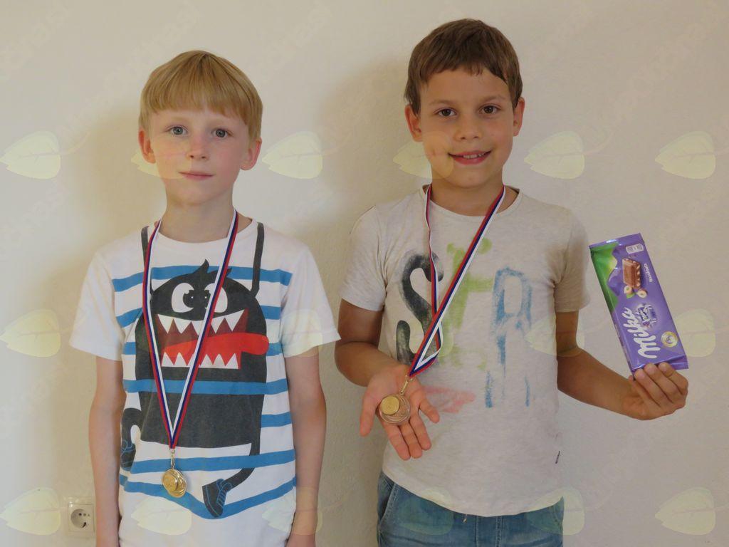 dečki od 8 let: Brin Širaj, Urban Prevc