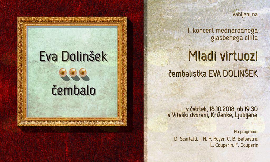 Solističen koncert čembalistke Eve Dolinšek