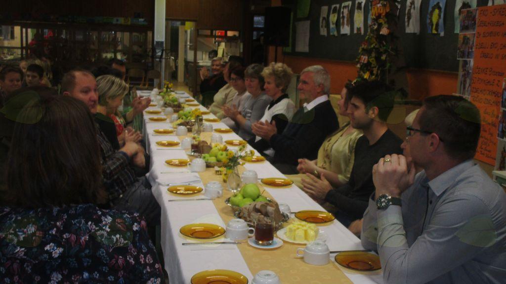 gostje na tradicionalnem zajtrku v Križevcih