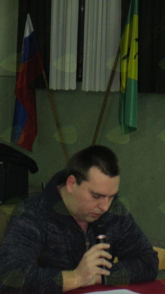 dr. Aleš Kolmanič, delovni predsednik na občnem zboru