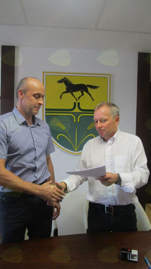 Rudi Sever s.p. in mag. Branko Belec, župan