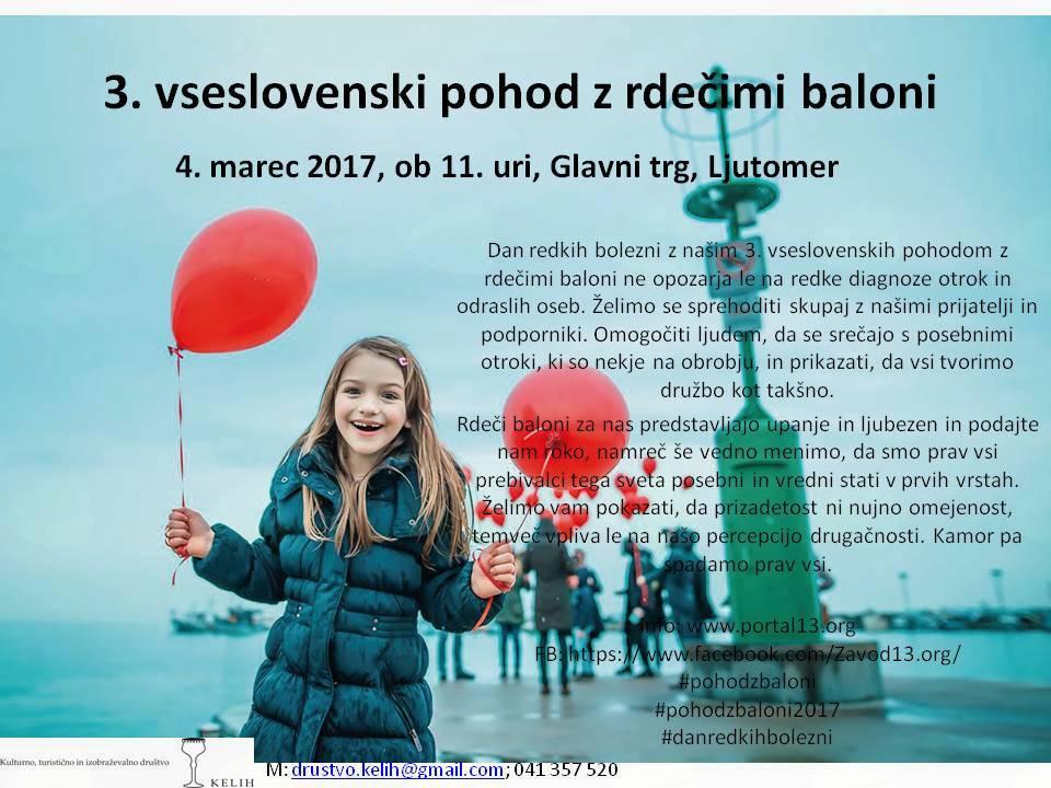 3. vseslovenski pohod z rdečimi baloni