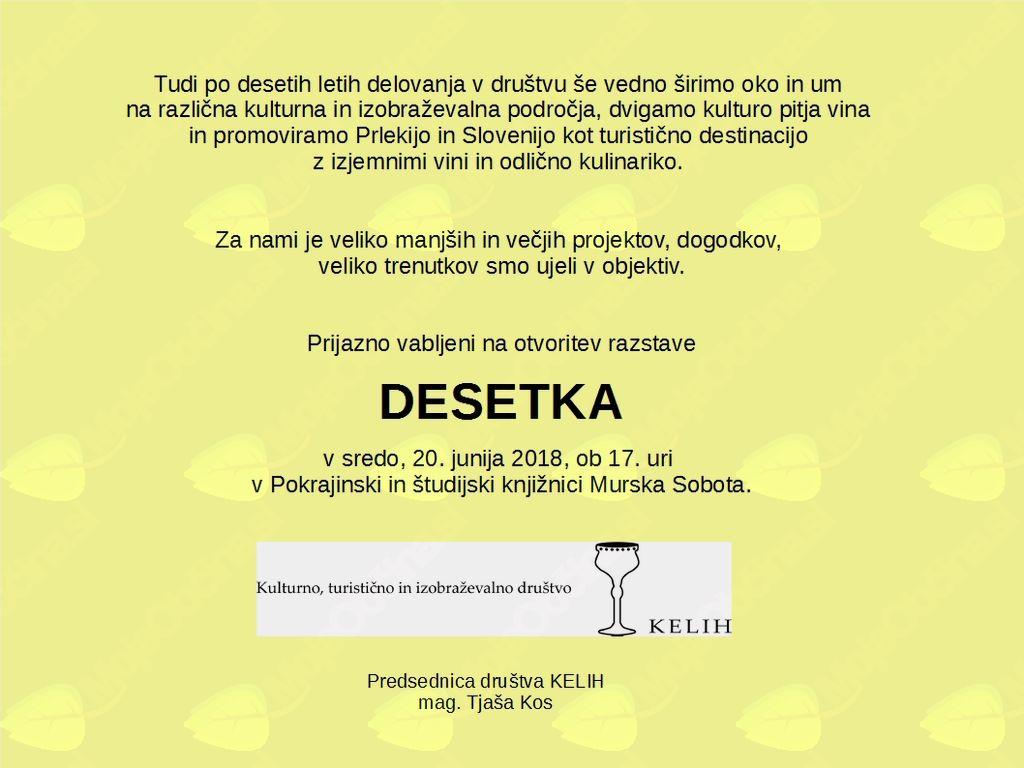 Otvoritev razstave DESETKA